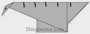 Bước 8: Vẽ mắt, vân để hoàn thành cách xếp con khủng long ăn cỏ cổ dài Seismosaurus bằng giấy origami đơn giản.