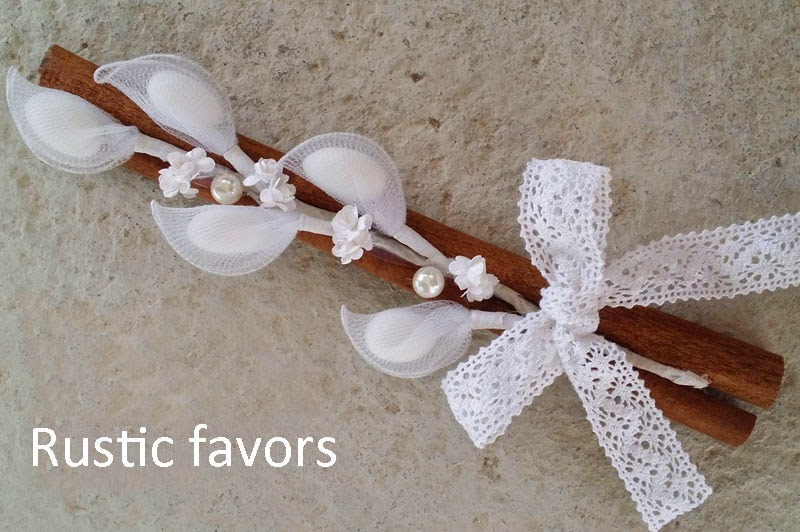 Favors for rustic wedding