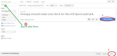 Google web fonts for blogger