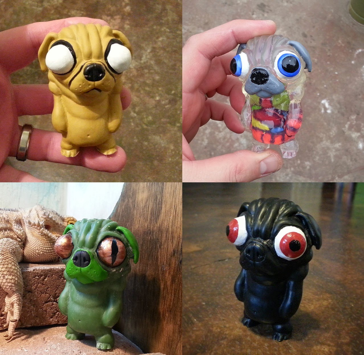 Puggo Resin Figure by Motorbot - Adventure Time Edition, Visible Edition, Lizard Edition & Black Edition