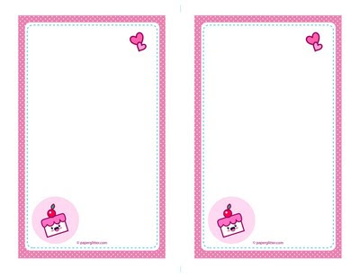 graphic about Printable Note Papers titled Cost-free Printable:Kawaii Cake Envelope Be aware Papers Absolutely free
