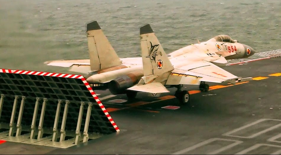 chine Chinese+J-15+Carrier+borne+Fighter+Jet+Landing+back+at+the+CV16+Liaoning+Aircraft+Carrier+of+the+People's+Liberation+Army+Navy+(PLA+Navy)+(3)