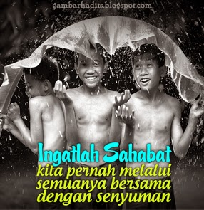 Persahabatan, Melalui Semuanya Bersama dengan Senyuman