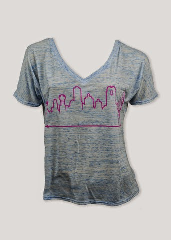 dallas skyline t-shirt, dallas skyline