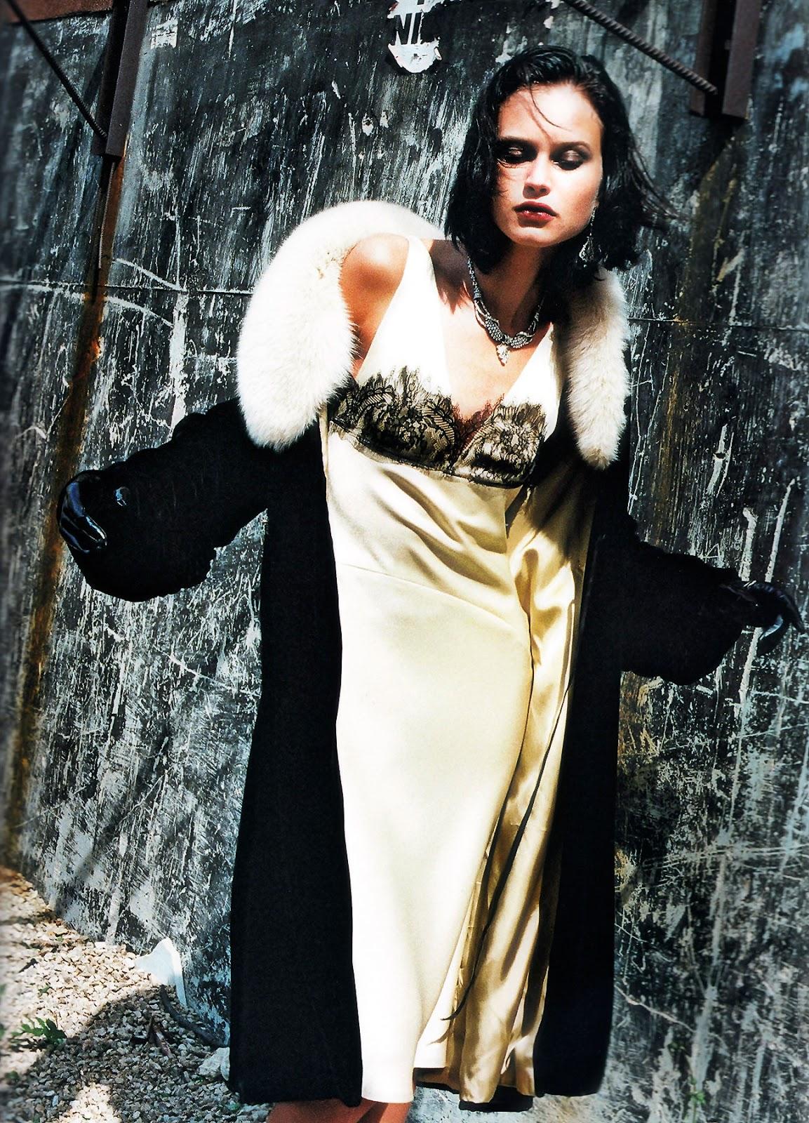 Natalia Semanova by Helmut Newton for Blumarine Fall/Winter 1999 campaign
