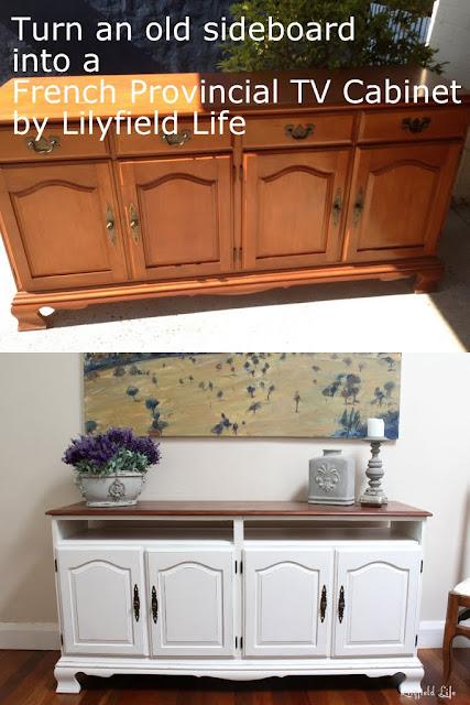 How to turn an old sideboard into a French Provincial TV cabinet by Lilyfield Life