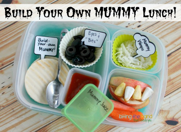 Build-Your-Own Mummy Pizzable Lunch for Halloween!