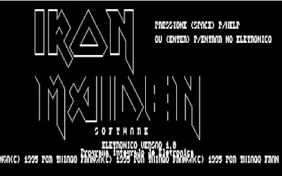 Eletronico Iron Maiden Software Thiago França 1995 SENAI Turbo Basic PC XT