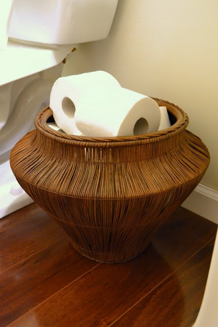 powder room toilet paper basket