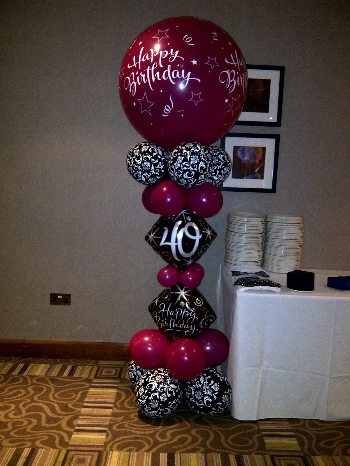 Welcome to party buds 39 balloon world professional for 40th birthday party decoration