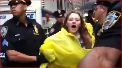 Directly from New York USA America Breaking News occupy Wall Street news Not Seen on FOX, CNN, NBC, BBC, NYPD Arrest protesters drag by their legs bleeding due Fascist NAZI New World Order police