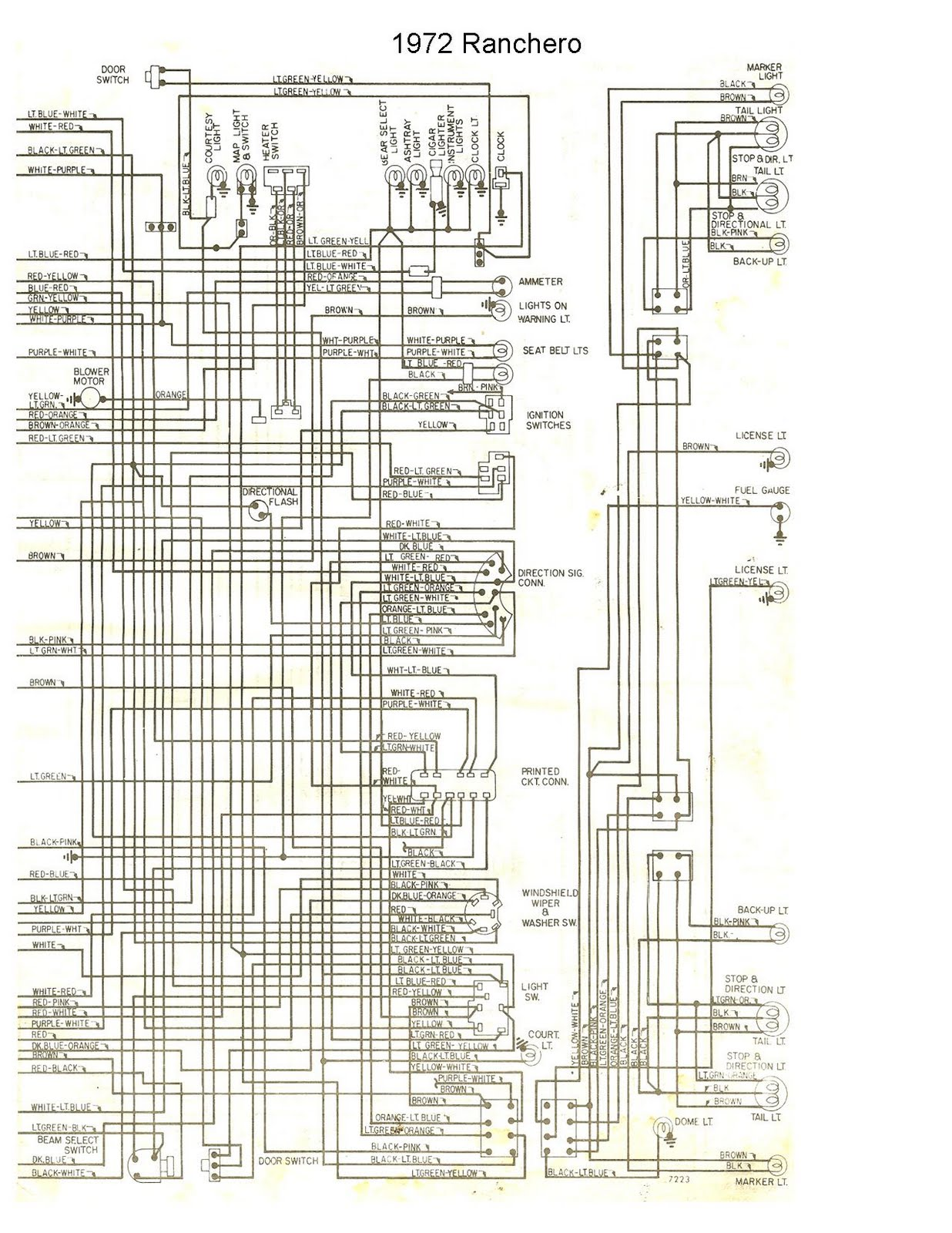 wiring schematic diagram ford ranchero 1972 free auto wiring diagram 1972 ford ranchero wiring diagram F100 Wiring Diagram at crackthecode.co