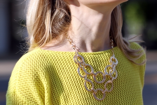 Madewell Portstitch Pullover Madewell Carrington Pullover Hive & Honey Hammered Open Circle Statement Necklace