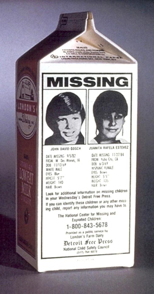 Milk carton missing