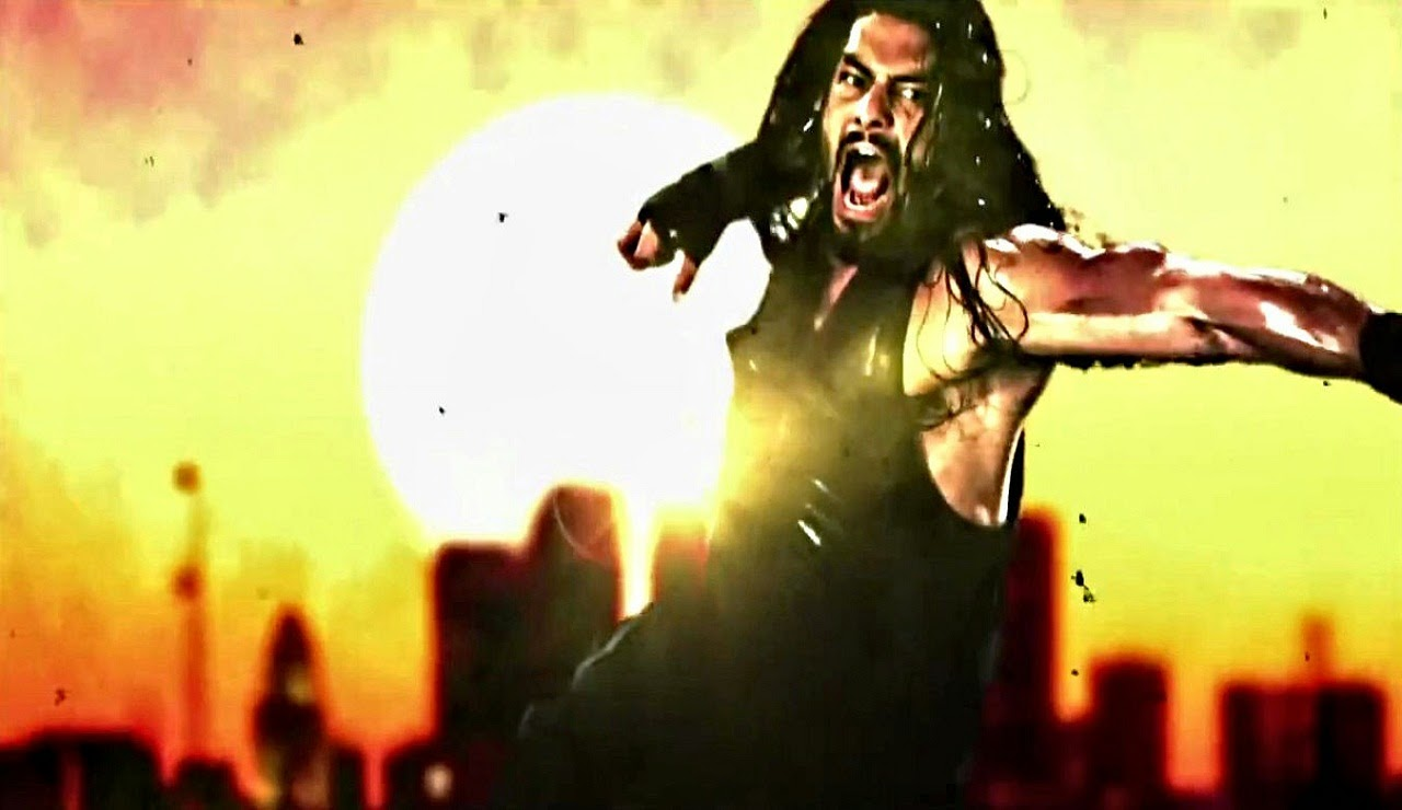 High Definition Quality Wallpapers of Roman Reigns Superman Punch