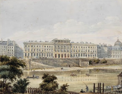 « Hôtel des Monnaies (Paris) 19th century » par Unattributed — Bibliothèque nationale de France. Sous licence Domaine public via Wikimedia Commons - http://commons.wikimedia.org/wiki/File:H%C3%B4tel_des_Monnaies_(Paris)_19th_century.jpg#/media/File:H%C3%B4tel_des_Monnaies_(Paris)_19th_century.jpg