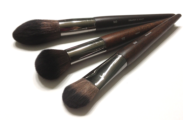 Make Up For Ever brushes Artisan Brush Collection 160 Blush Brush, 152 Medium Highlighter Brush, 106 Medium Foundation Brush