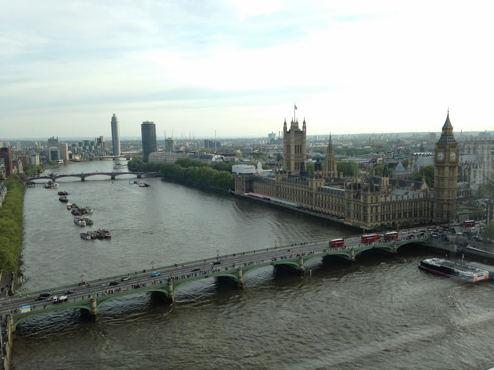 Vista de Londres desde el London Eye