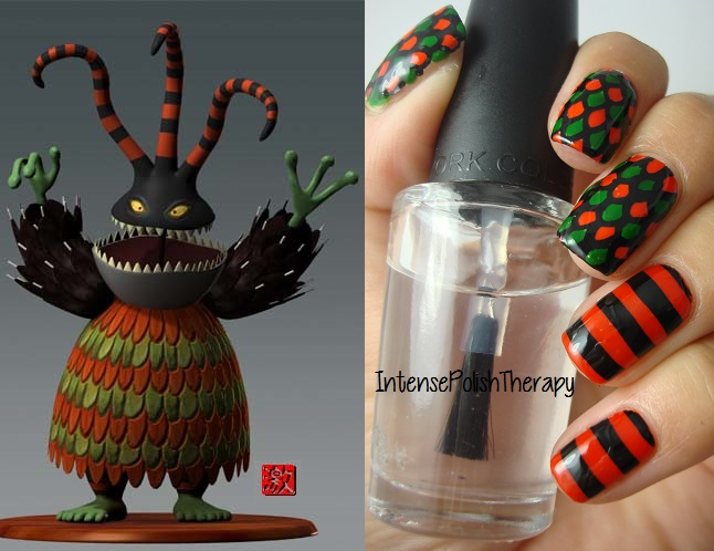 Intense Polish Therapy: Harlequin Demon manicure inspired by The ...