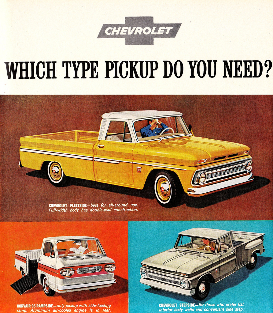 Chevy Dealers In Ny >> Chevrolet Pickups Ad (1963) | Snaxtime