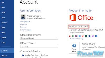 Cara Mengaktifkan Microsoft Office 2013 ke Versi Full