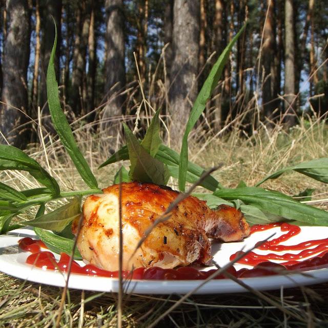 Udka z grilla w marynacie keczupowej