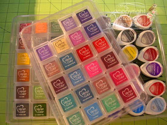 organization of ink cubes