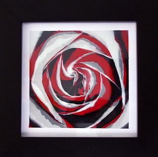 Rose Kunst Foto Stencil