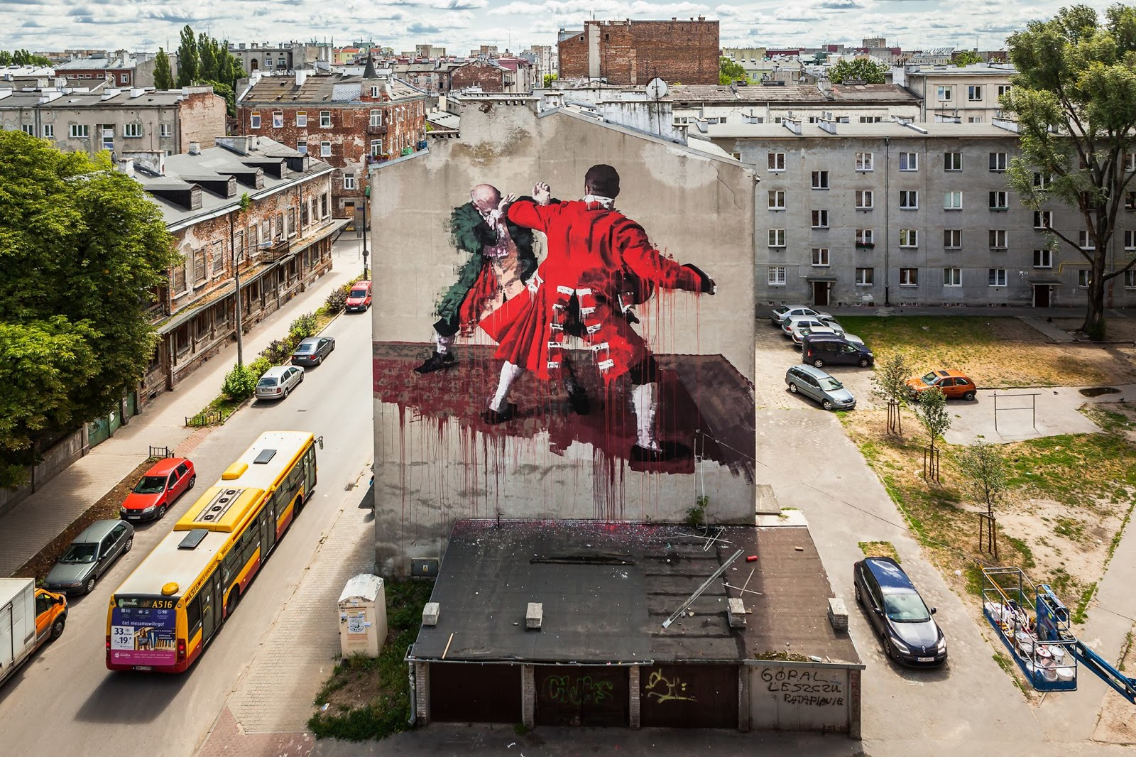 Conor harrington creates a new mural in warsaw poland for for Best mural artist