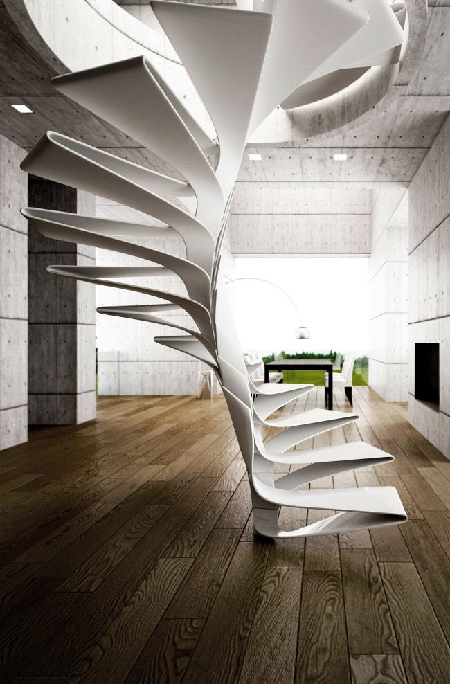 Flexible Spiral Staircase Design Of Fiberglass New Stairs