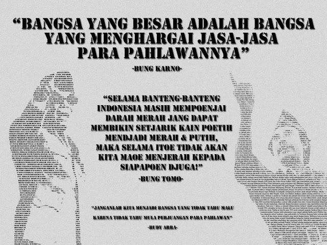 Bung Karno & Bung Tomo Typography