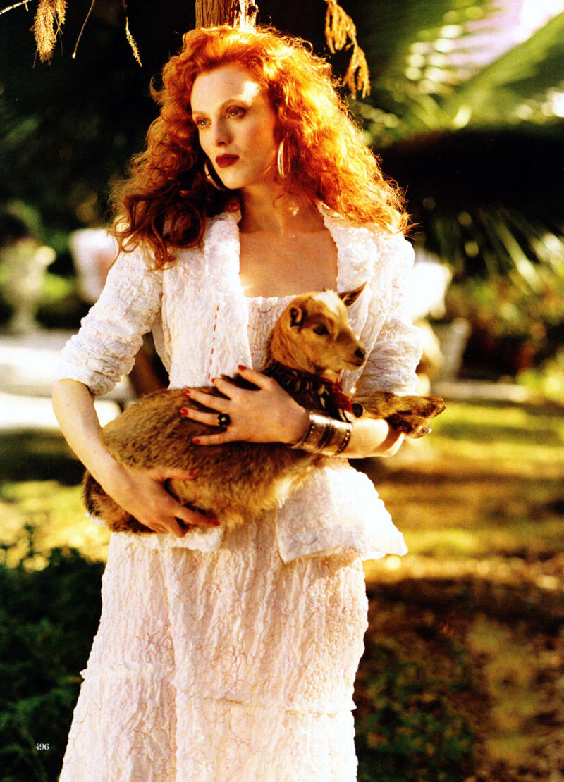 via fashioned by love | Karen Elson in Vogue US March 2011 (photography: Bruce Weber, styling: Camilla Nickerson) | lamb in fashion editorials