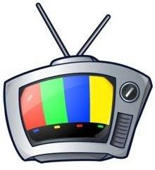 Comer e assistir televisão é muito bom.