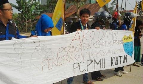 Aksi PMII Kutim Peringati Kesaktian Pancasila