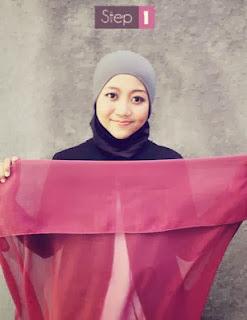 Cara Memakai Jilbab Paris Sederhana
