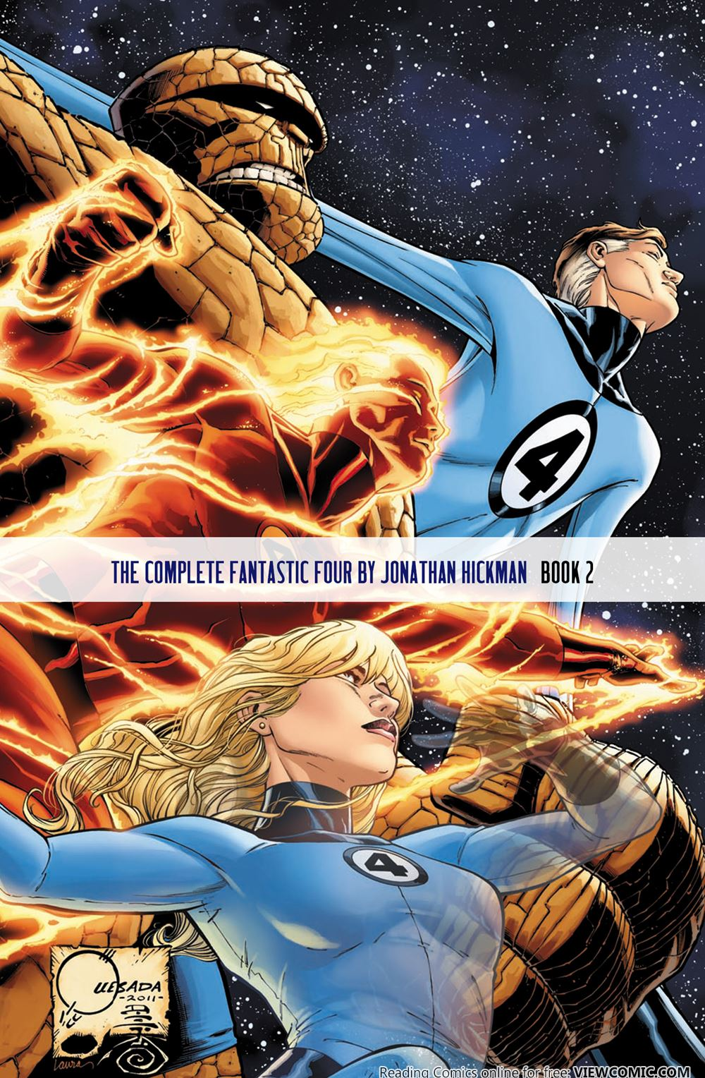 The complete fantastic four by jonathan hickman book 2 for The thing free online
