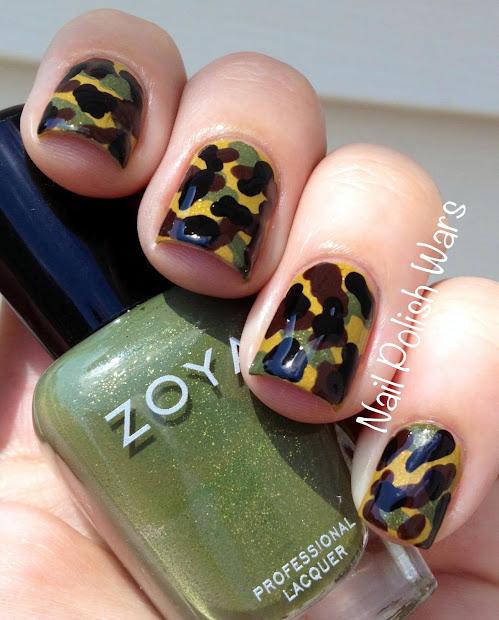 nail polish wars camo