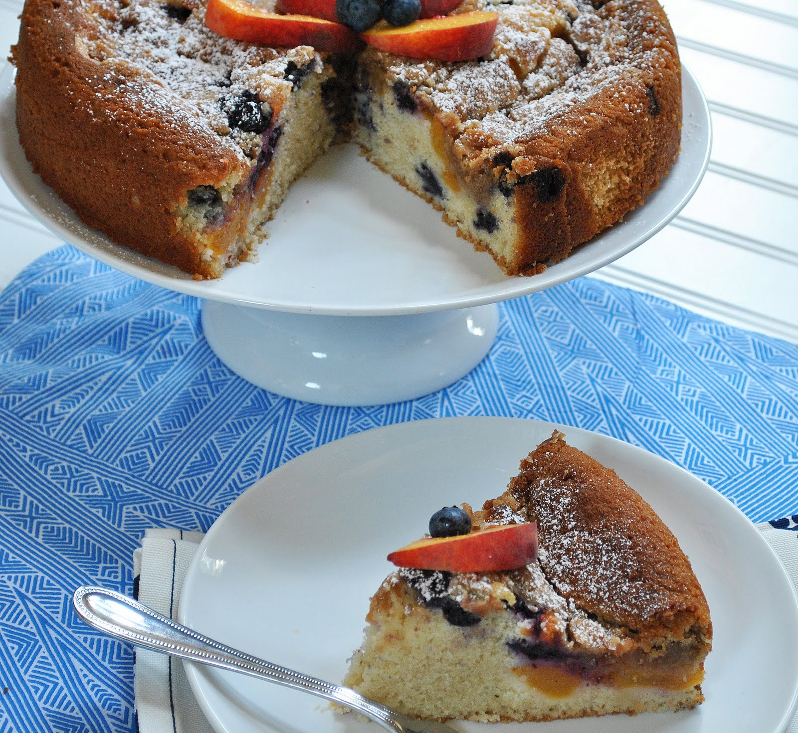 Peach Week: Peach Blueberry Coffee Cake