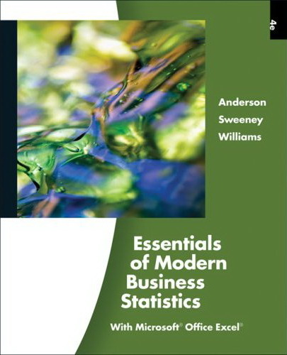 statistics for business and economics anderson sweeney williams solutions pdf
