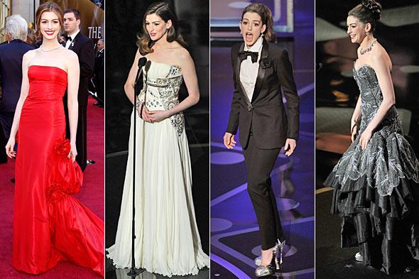 anne hathaway oscar dress 2010. 8 Best Dressed Oscar Looks: