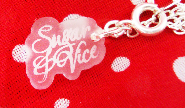win, necklace, sugar & vice, jewellery