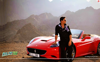 Akshay Kumar Red Ferrari Wallpaper Khiladi 786