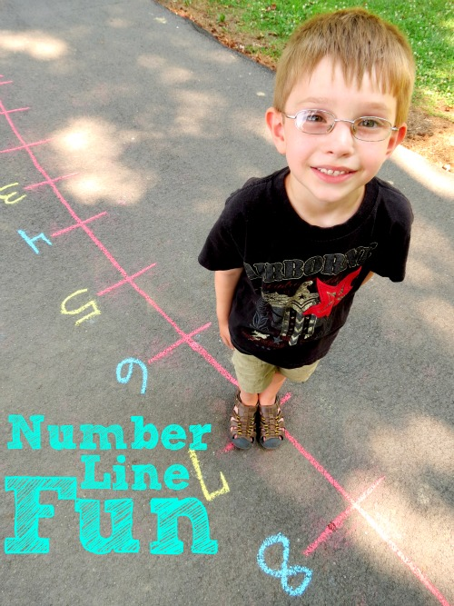 Number Line Fun- Take your math lessons outside and practice through play with a kid-sized number line!