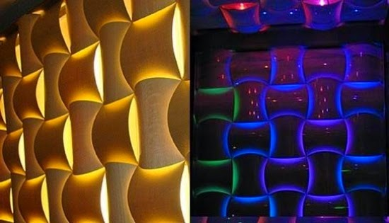 Wall Art With Lights 20 decorative 3d wall art panels and stickers | 3d wall decor