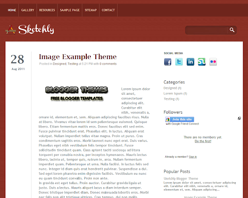 Sketchly Blogger Theme