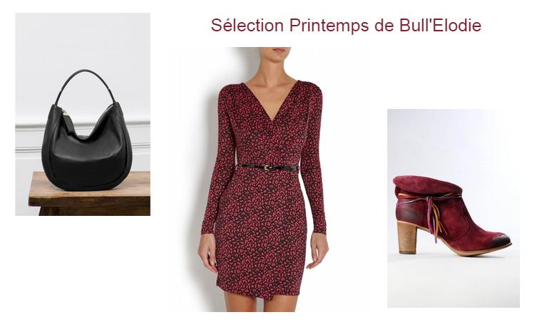 click'n dress, sélection, printemps, robe, sac, bottine, bullelodie