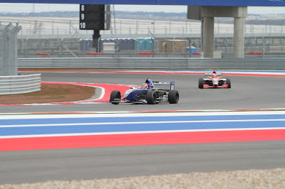 Lloyd Read in the #16 Almost Everything Star Mazda at Circuit of the Americas