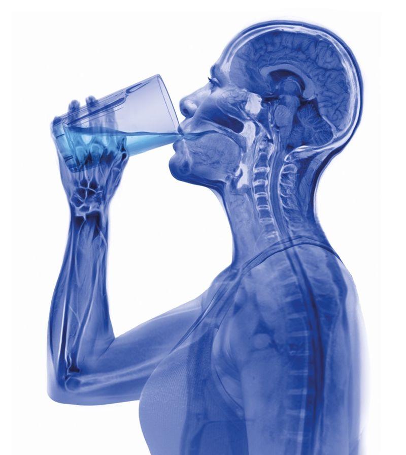 Woman Drinking Water Hugh Turvey