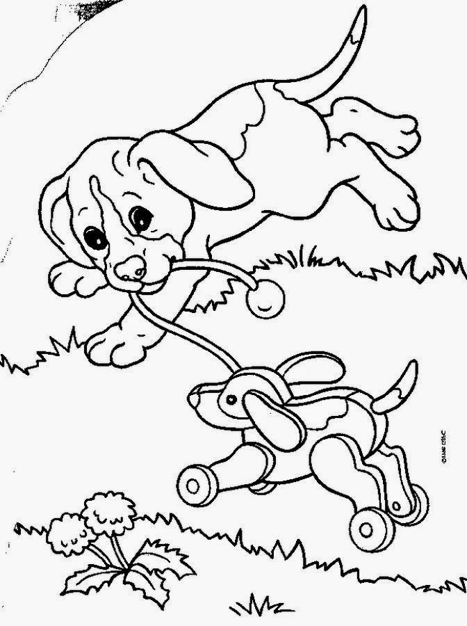 desenho de cachorro brincando para pintar