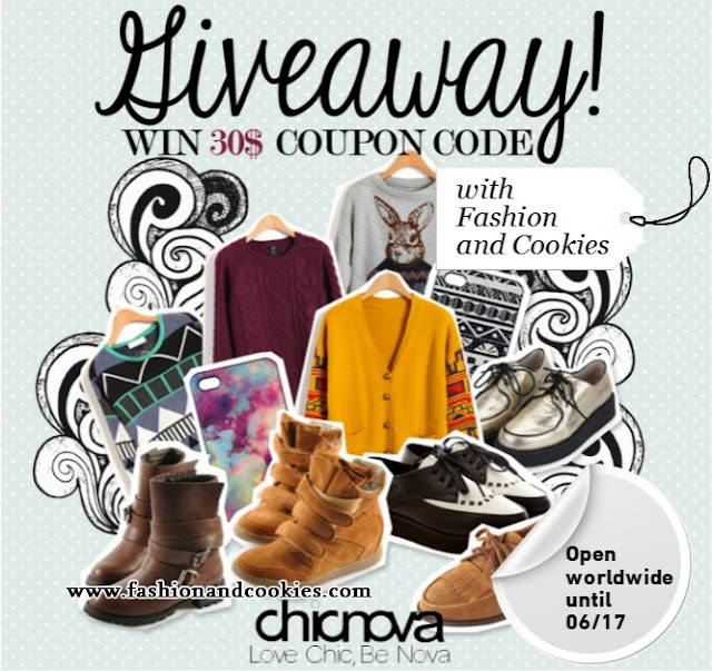 Chicnova $30 Giveaway on Fashion and Cookies
